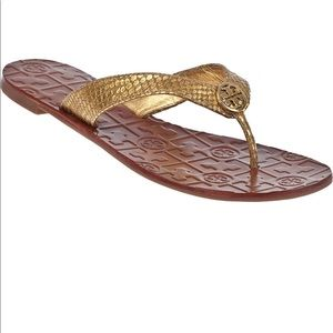 Tory Burch Thora gold snake print sandals!